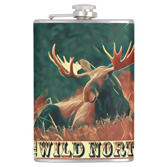 Wild North Moose Hip Flask