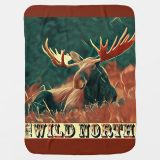 Wild North Moose Swaddle Blanket
