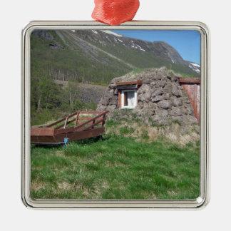 wild norway Silver-Colored square ornament