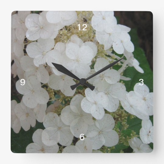 Wild Oak leaf Hydrangea Wall Clock