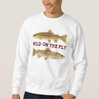 Wild on the Fly - Trout Art Apparel Sweatshirt