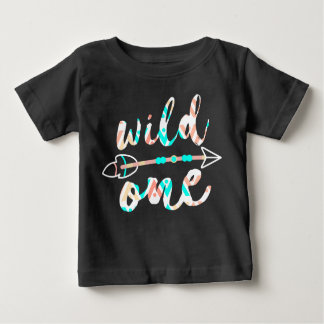 Wild One and Arrow | Boho | One Year Old Baby T-Shirt