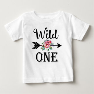 Wild one arrow floral 1st birthday shirt