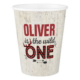 Wild One Birthday Paper Cup Lumberjack Wild One