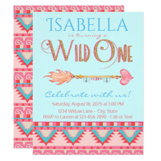 Wild One Birthday Party Invitation