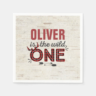Wild One Birthday Party Napkin Lumberjack Wild One Disposable Napkins