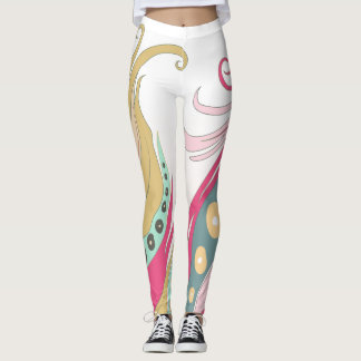 Wild One Feather Pastel Colored Leggings