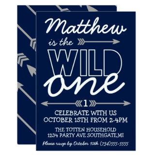 Wild One First Birthday Invitation
