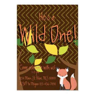 """""""Wild One"""" first birthday invitation"""
