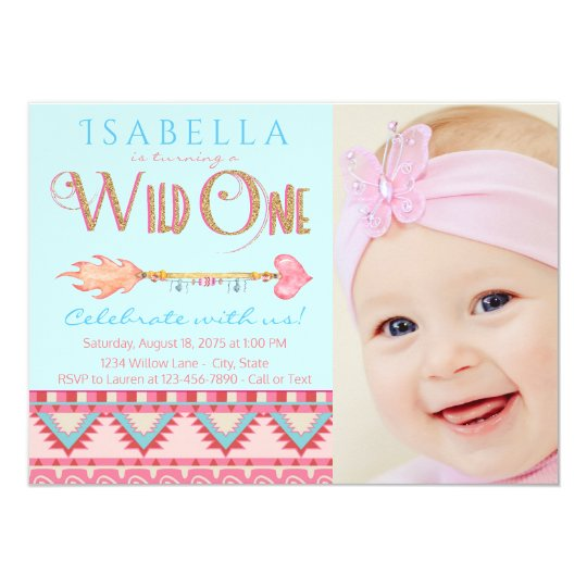Wild One First Birthday Party Invitations