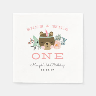 Wild One | First Birthday Party Paper Napkins