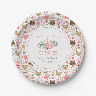 Wild One   First Birthday Party Paper Plate