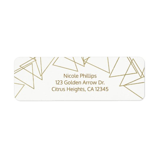 Wild One Gold Geometric Triangles Modern Glamour
