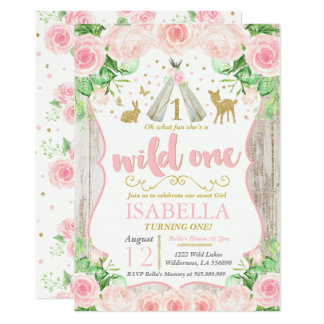 Wild One Invitation Girl Wild One 1st Birthday