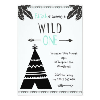 Wild One Invitation Teepee Wild One Birthday Party