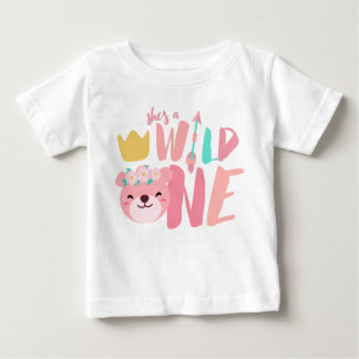 Wild One Lioness and Arrow | 1 Year Old Baby Girl Baby T-Shirt