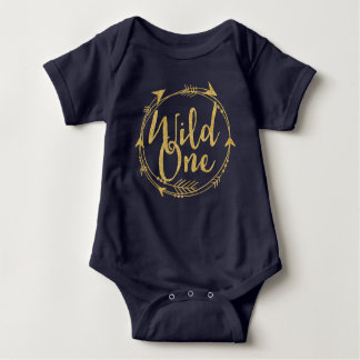 Wild One|One Year Old Baby Bodysuit
