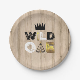 """Wild One Paper Plate 7"""" King Of The Wild"""
