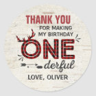 Wild One Party Favour Tag Lumberjack Sticker Seal