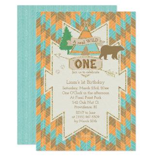 Wild One Tribal 1st Birthday Invitation