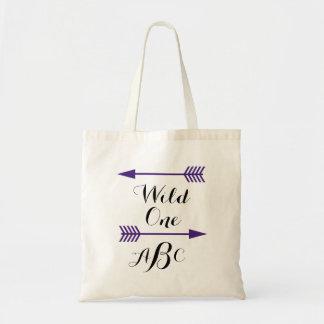 Wild One w/arrows Tote- Customize monogram Tote Bag