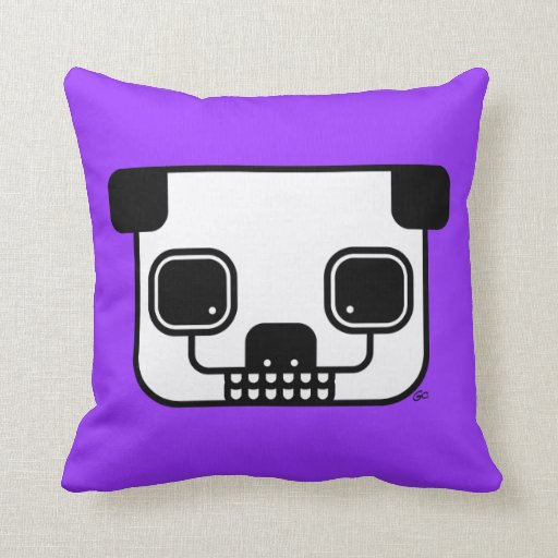 Wild Ones™-Zombie Panda Throw Pillow
