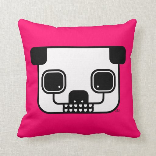 Wild Ones™-Zombie Panda Throw Pillows