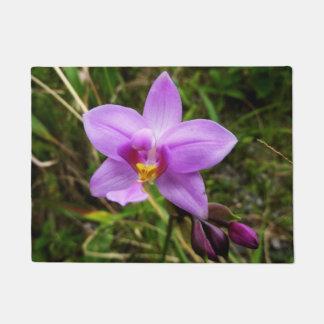 Wild Orchid Purple Tropical Flower Doormat