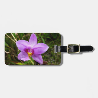 Wild Orchid Purple Tropical Flower Luggage Tag