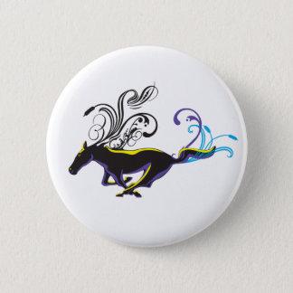 Wild Ornamental Horse 2 Inch Round Button