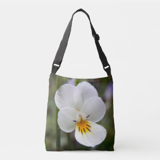 Wild Pansy All Over Print Cross Body Bag