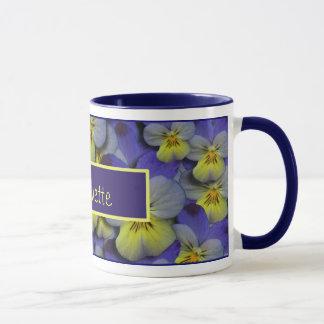 Wild Pansy Personalizable Mug