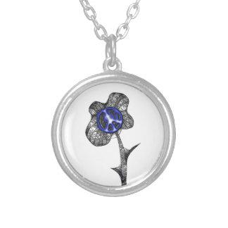Wild Peace Flower Dark Blue Necklaces
