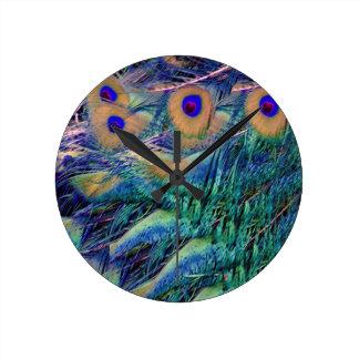 Wild Peafowl Wall Clock