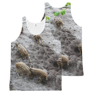 Wild piglets All-Over-Print tank top