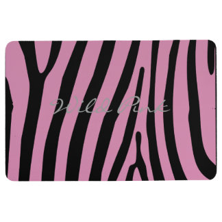 Wild Pink Love Black Floor Mat
