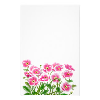 Wild Pink Poppies Stationery