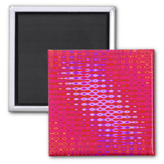 wild pink red square magnet