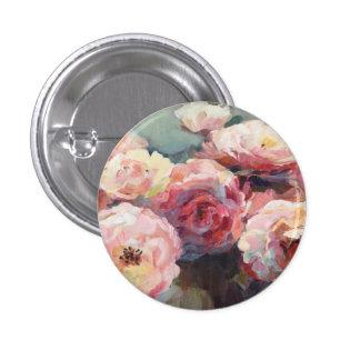 Wild Pink Roses 1 Inch Round Button