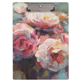 Wild Pink Roses Clipboard
