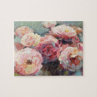 Wild Pink Roses Jigsaw Puzzle
