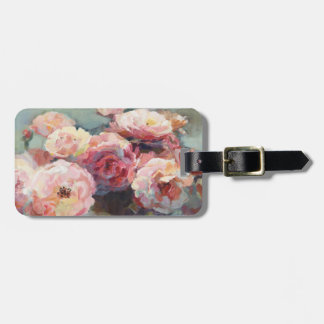 Wild Pink Roses Luggage Tag