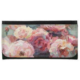 Wild Pink Roses Wallets