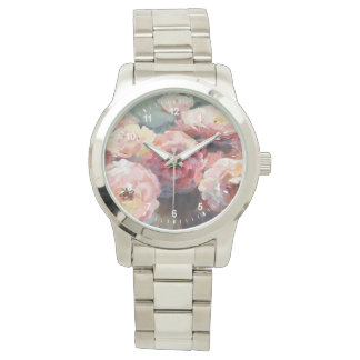 Wild Pink Roses Watch