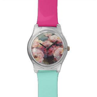 Wild Pink Roses Wristwatch