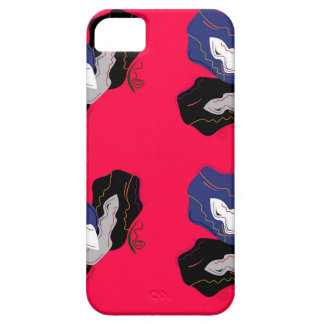 Wild pinkred Orchids with Black iPhone 5 Case