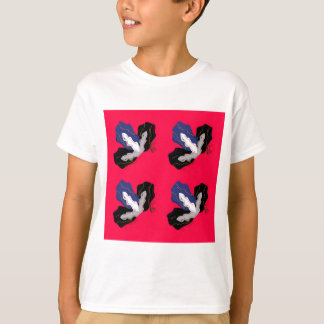 Wild pinkred Orchids with Black T-Shirt
