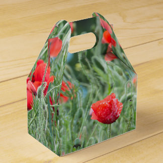 Wild poppies favor box