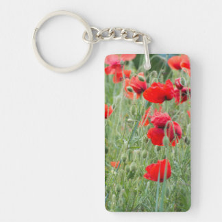 Wild poppies keychain