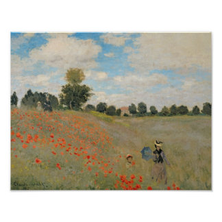 Wild Poppies, near Argenteuil Poster